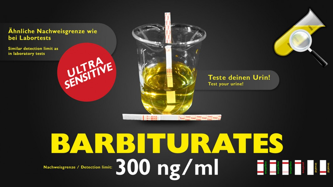 Barbiturate Drogentest - Selbsttest (Urin)