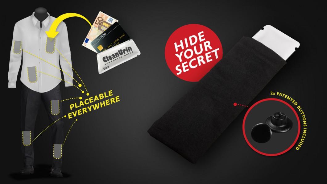 SafeBag - Geheimfach mit Druckknopf